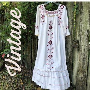 Vintage 70s Oaxacan Mexican Dress